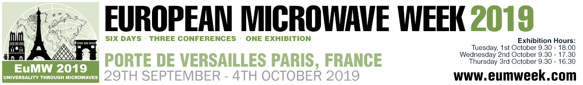 European Microwave Week 2019 | Paris, France | 29th September - 4th October 2019