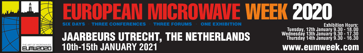European Microwave Week 2020 | Jaarbeurs Utrecht, The Netherlands | 13rd-18th September 2020